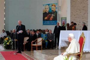 El  centro Verbita ad gentes de Nemi recibe al Papa
