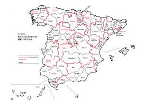Mapa eclesiástico de España