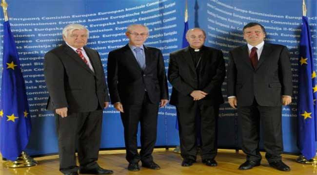 Monseñor Adolfo González Montes en la cumbre de Líderes religiosos de la Unión Europea