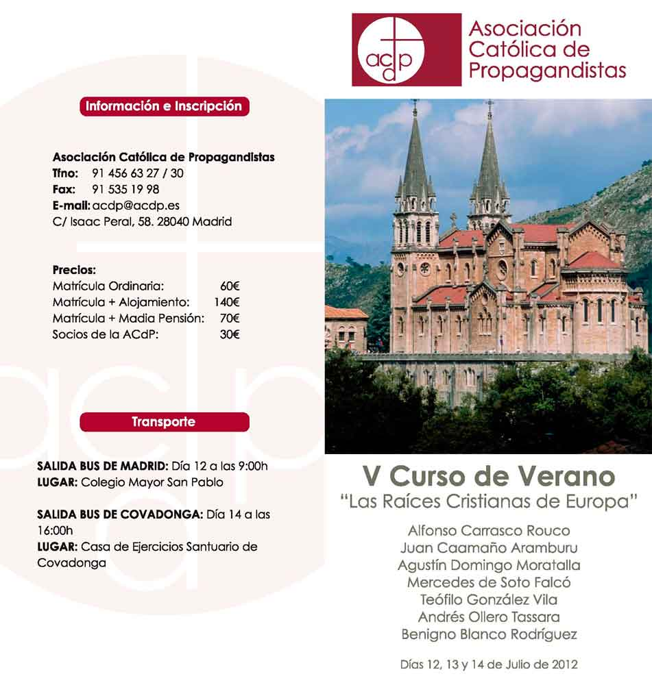 Curso Raíces Cristianas en Europa