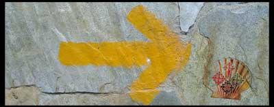 Flecha en el Camino de Santiago