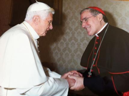Benedicto XVI con cardenal Martínez Sistach