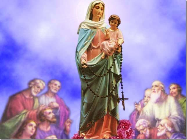 Resultado de imagen para La Virgen y el Rosario.