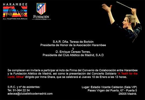 El Atlético de Madrid firma un convenio con Harambee