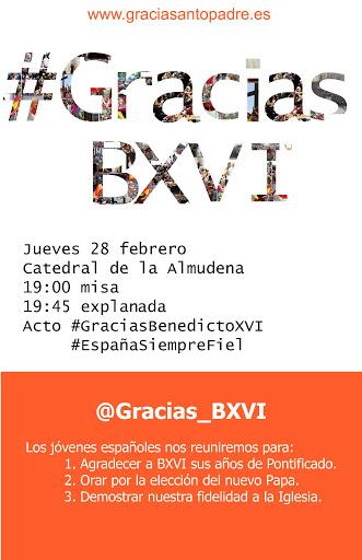 GRACIAS BXVI 19feb