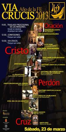 Cartel Via Crucis Año de la FE 2013