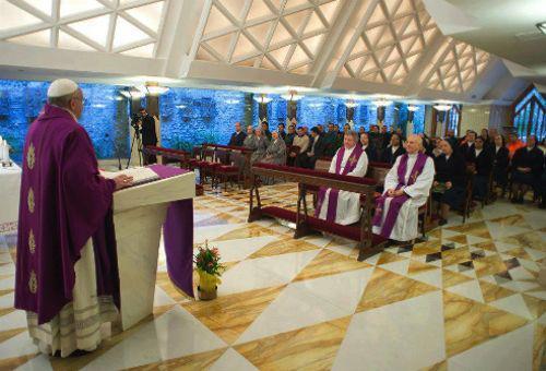 Papa Francisco en Santa Marta