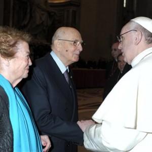 Giorgio Napolitano Papa Francisco