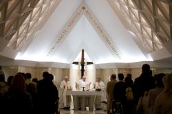 papa francisco celebrando