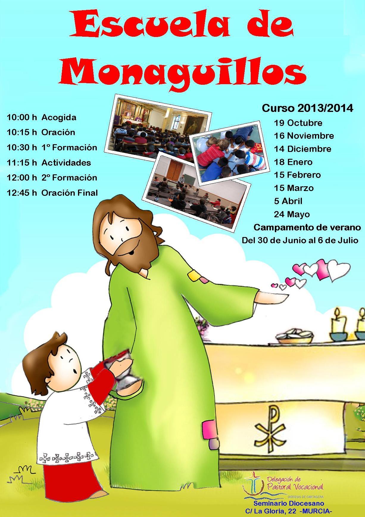 Cartel Escuela de Monaguillos. Sep 2013