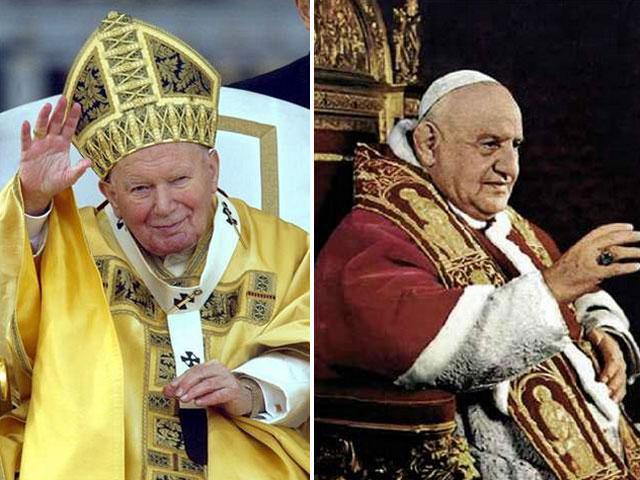 canonizacion-juanpabloII juan XXIII