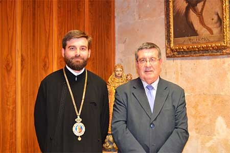 rector-de-la-UPSA-con-el-obispo-ortodoxo-rumano-Monseñor-Timotei