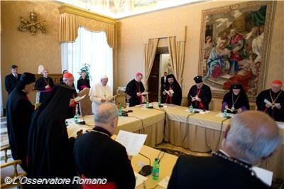 papa francisco jefes de oriente