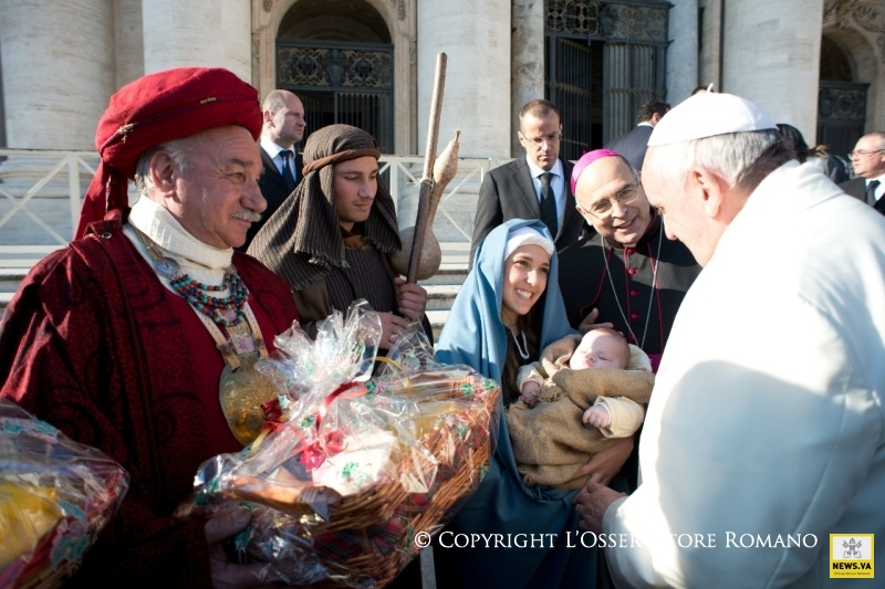 papa francisco belen navidad