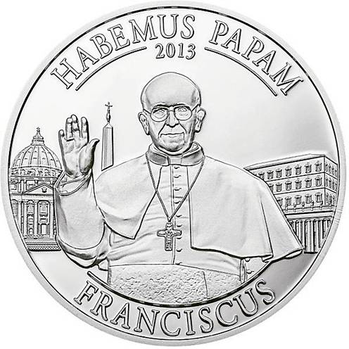 moneda papa francisco