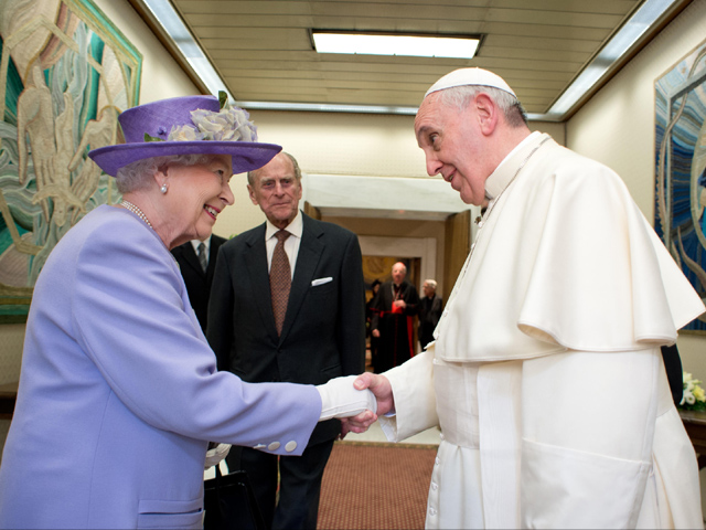 audiencia papa francisco reina isabel II