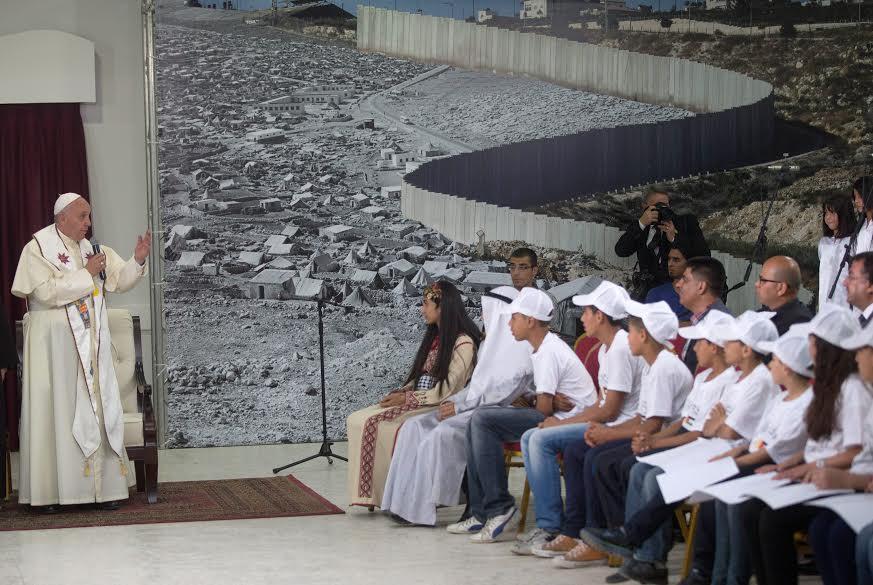 papa jovenes palestina