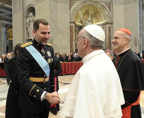 Felipe VI papa Francisco