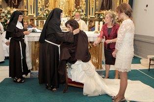 LORCA-28/6/2014. Ceremonia Nueva Hermana convento de las Clarisas