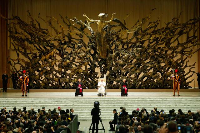 papa francisco recepcion
