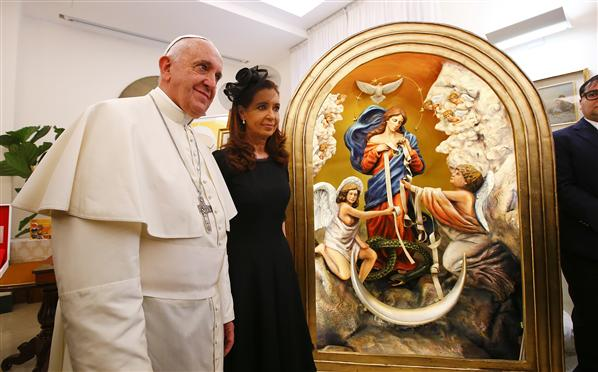 presidenta argentina papa
