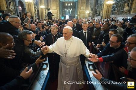 papa francisco napoles