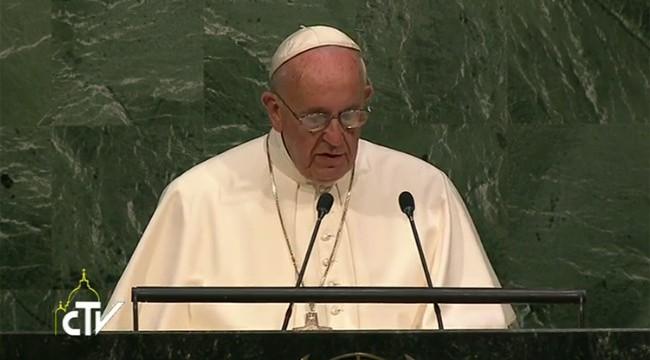 papa francisco en naciones unidas