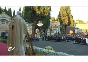 Papa cementerio Roma