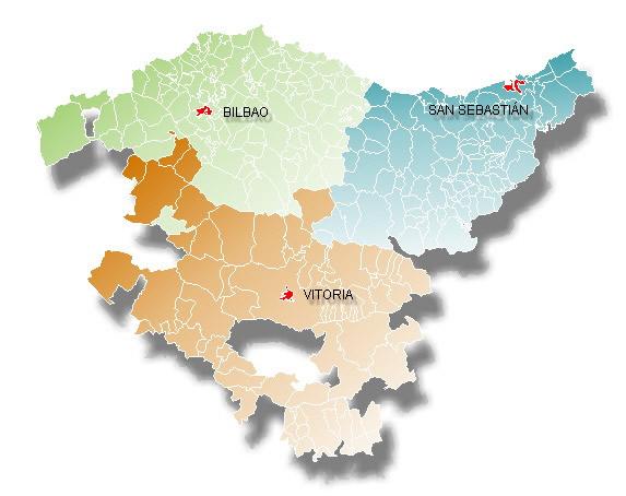 Mapa De Pais Vasco Por Provincias.Pais Vasco Mapa Provincias Mapa