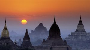 Bagan, Burma --- Original caption: Myanmar (Burma), Mandalay Division, Bagan site classified as World Heritage by UNESCO, temples --- Image by © Philippe Body/Hemis/Corbis