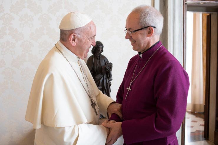 Welby, con el Papa