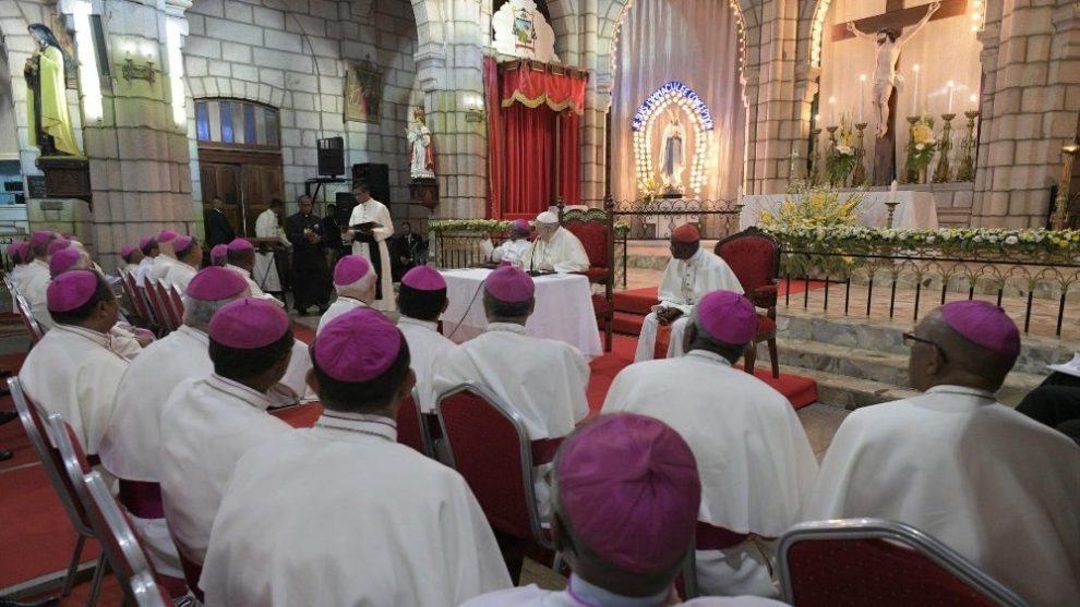 Encuentro del Papa con los obispos de Madagascar