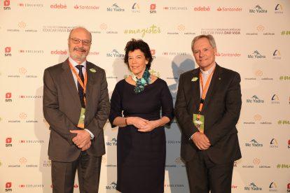 José María Alvira, Isabel Celaá y Juan Carlos Pérez Godoy