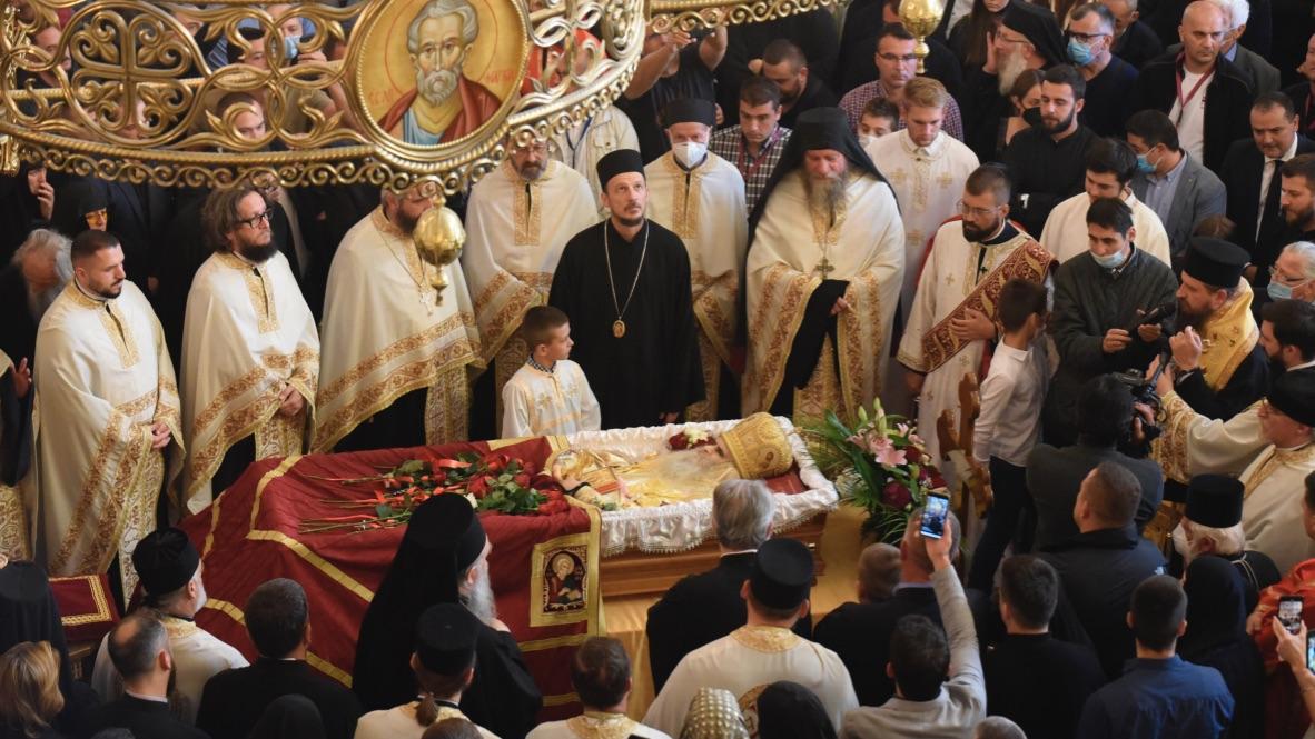 Funeral del obispo ortodoxo, Anfilohije Radovic