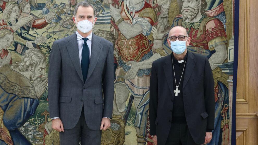 Encuentro entre el cardenal Omella y el rey Felipe VI