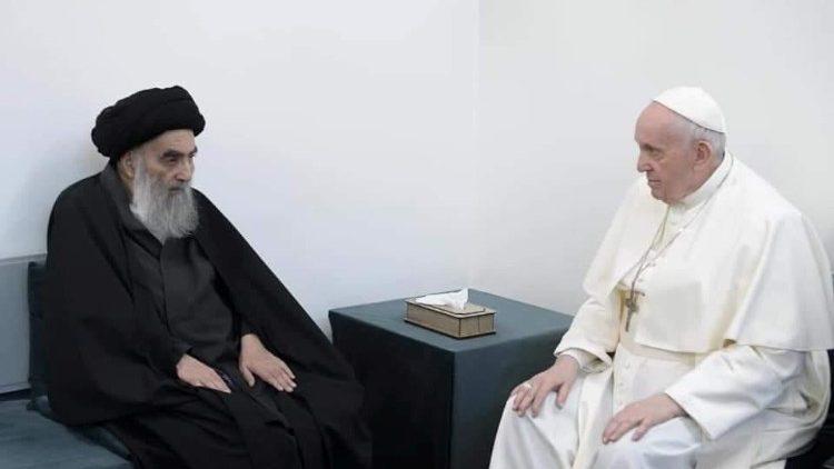 Francisco, en Irak: Visita de cortesía al líder chiíta Al-Sistani