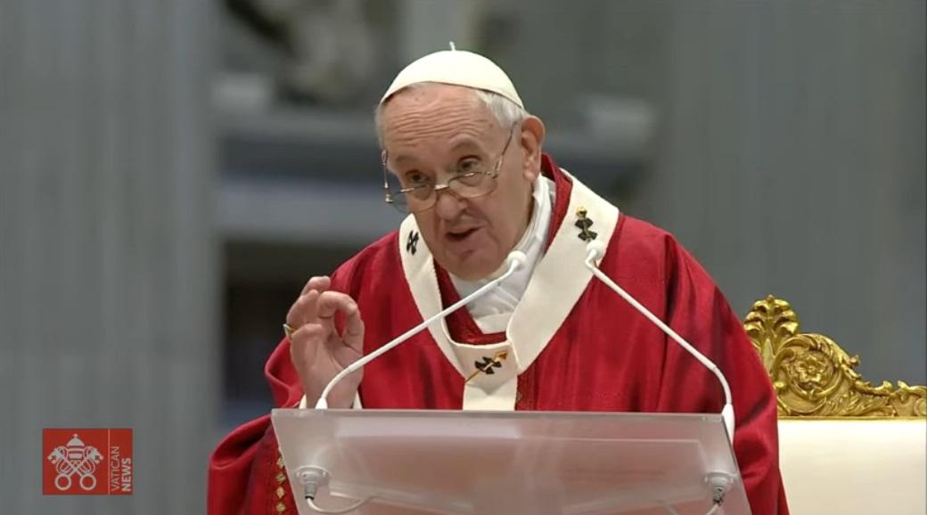 Francisco en la solemnidad de Pentecostés: «Si no encuentras una salida, ábrete al Espíritu Santo»