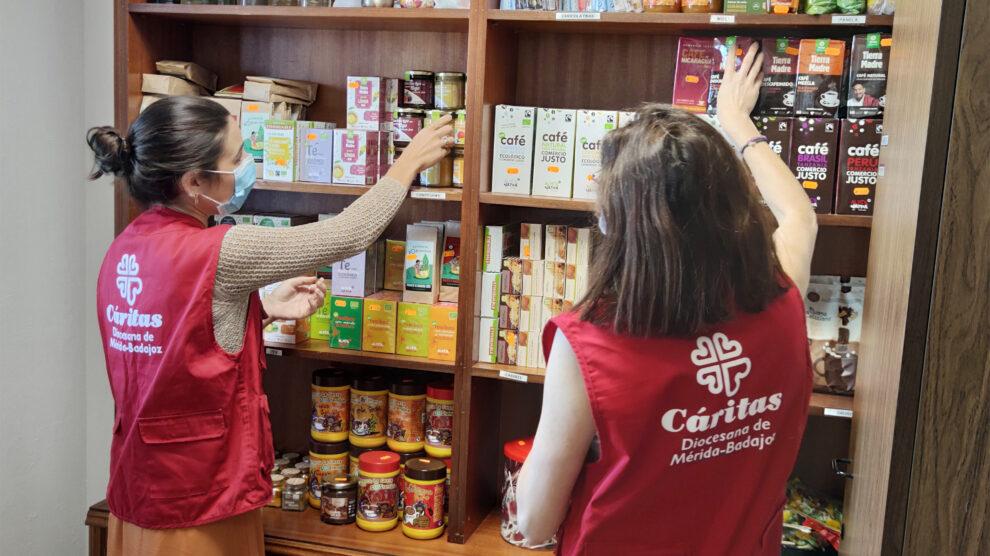 Cáritas diocesana de Mérida-Badajoz con el comercio justo