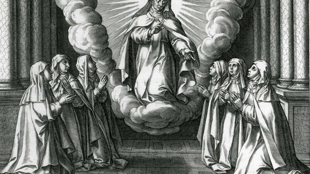 TERESA DE JESÚS, MAESTRA DE SUS HIJAS DE LA VITA B. VIRGINIS TERESIAE DE ADRIEN COLLAERT Y CORNELIO GALLE